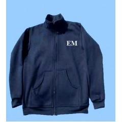 MMM1010  Boys  Zippered Fleece Cardigan with Embroidered Maimonide Logo