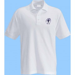 MAI101 - White Short Sleeve Polo with Maimonide Embroidery