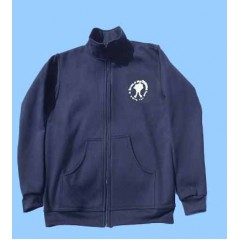 MAI1010 Boys  Zippered Fleece Cardigan with Embroidered Maimonide Logo