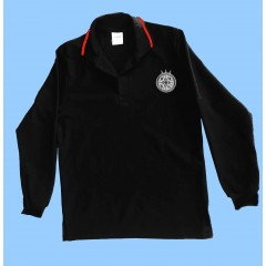 CAV1009 - Black Long Sleeve Polo with logo