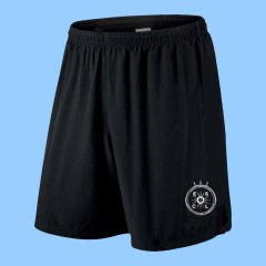 CAV1014 - Black Athletic Short with Printed Logo-WHILE QUANTITIES LAST