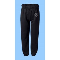 CAV1015 - Black Fleece Jogging Pant with Printed Logo
