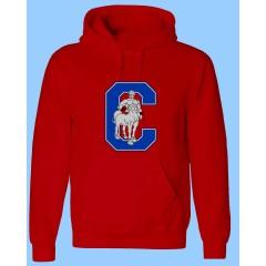 CAV1114 - Red Kangaroo Fleece Hoodie -WHILE QUANTITIES LAST