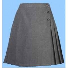 CAV9016 - Girls Grey Woven Skirt
