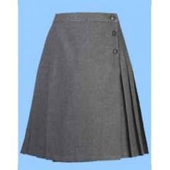 CAV9016 L- Longer Girls Grey Woven Skirt 20 inch length