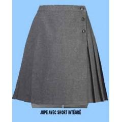 CAV9017 - Girls Grey Woven Skort (Skirt with shorts)