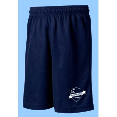 CED1014  Navy Mesh Gym  Short with Printed Logo