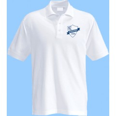 CED101 - White Short Sleeve Polo with Printed Logo (Unisex)