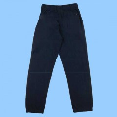 POM450 Navy Fleece Sweatpants Elastic Cuff (Double Knee)