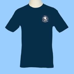 CW502  NAVY Gym T-Shirt w/white printed logo