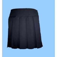 POM600 Navy Pleated Skirt