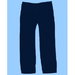POM700 Navy Elastic Waist Pull On Pant