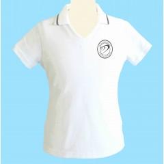 DOR1001 - Tapered white V neck polo