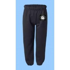 DOR1015 - Black Fleece Jogging Pant with Printed Logo