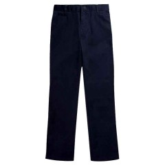 EA137 GIRLS WOVEN NAVY PANT - WITH ZIP FLY