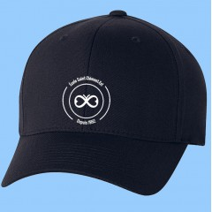 ECLE012-NAVY CAP WITH EMBROIDERED LOGO