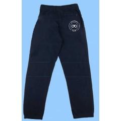 ECLE451 Navy Fleece Sweatpants Elastic Cuff (reinforced knee) with printed logo