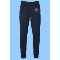 ECLE9431  Stretch Rugby style Jog  Pant Rib cuff with logo