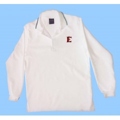 FEL1008- White long sleeve polo