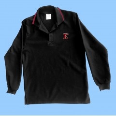 FEL1009 - Black Long Sleeve Polo