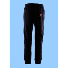 WES1015 - Black Fleece Jogging Pant with rib cuff