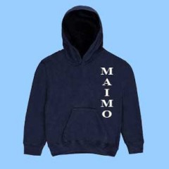 MAI8500  Navy Gym MAIMO Fleece Hoodie
