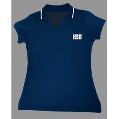 HSB1002F - Tapered Navy V neck polo -Short Sleeves