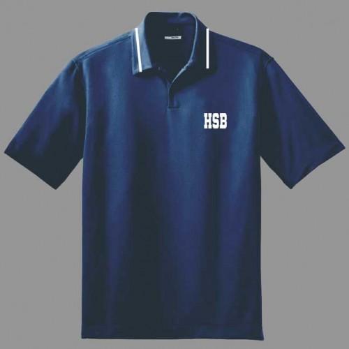 HSB1007F - Urban  Style Navy  polo -Short Sleeves