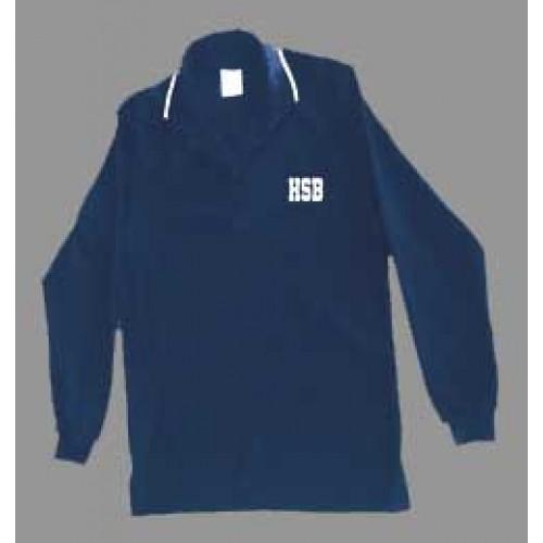 HSB1009F - Urban  Style Navy  polo -Long Sleeves