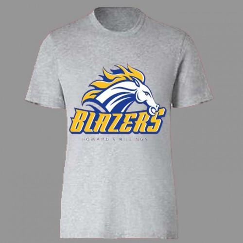 HSB1012-  Grey Gym T-shirt with Blazers Print