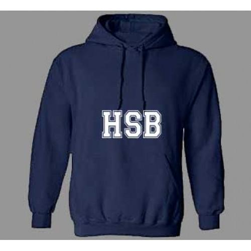 HSB1114 - Navy Kangaroo Fleece Hoodie