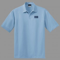 HSB2007F - Urban  Style Powder Blue  polo -Short Sleeves - FOR SEC V PREFECTS ONLY