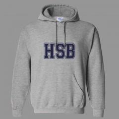 HSB2114 - Grey Kangaroo Fleece Hoodie  FOR SEC V PREFECTS ONLY