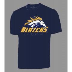 HSB1519 - Navy Performance t-shirt with Blazers Print