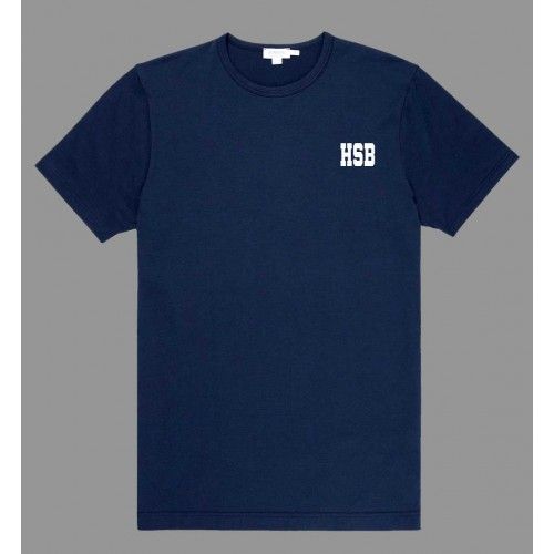 HSB701 -  Poly cotton Navy T-shirt with HSB logo for Daily Wear