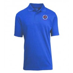 KAL7001 - Girls Royal Blue  Short Sleeve  Piqué Polo with  Embroidered School Crest