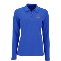 KAL7003 - Girls  Royal Blue  Long Sleeve Piqué Polo with embroidered school crest