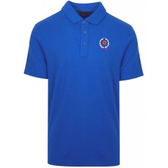 KAL7006 - Boys  Royal Blue  Short Sleeve  Piqué Polo with  Embroidered School Crest