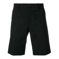 KAL9021 - UNISEX Woven Twill Black Zippered  Bermuda Short