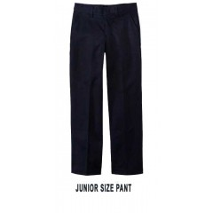 KAL9022 - Junior Style Woven Black Twill Pant with Elastic Back