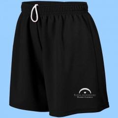 LAP1014 - Black Athletic Mesh Short