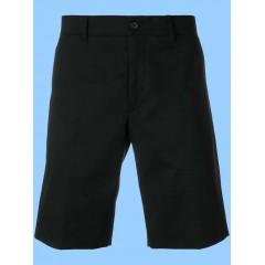 WES9021 - UNISEX Woven Twill Black Zippered  Bermuda Short
