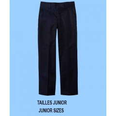 LAP9022 - Junior Style Woven Black Twill Pant with Elastic Back