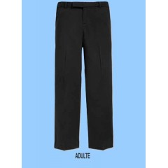 LAP9023 -Adult Style Woven Twill Black Pant with Adjustable Waist