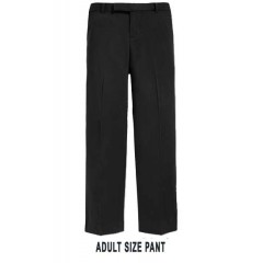 KAL9023 -Adult Style Woven Twill Black Pant with Adjustable Waist