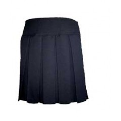 LAS600 Woven Pleated Skirt - Navy Sizes 4 to 20