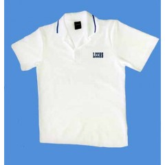 LHS1006 - Urban  Style white  polo -Short Sleeves