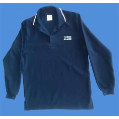 LHS1009 - Urban  Style Navy  polo -Long Sleeves