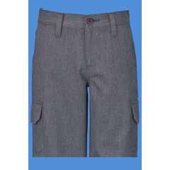 LHS1016 - UNISEX Woven Twill Grey Bermuda Short with Cargo Pockets