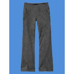 LHS8018 -Girl's Grey  Stretch Yoga Pant